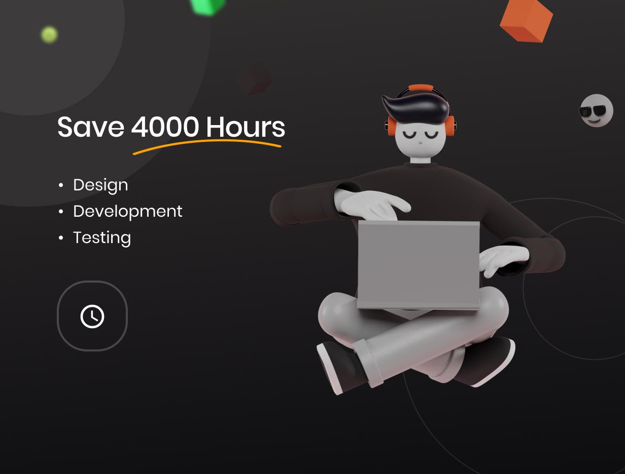 Economize 4000 horas